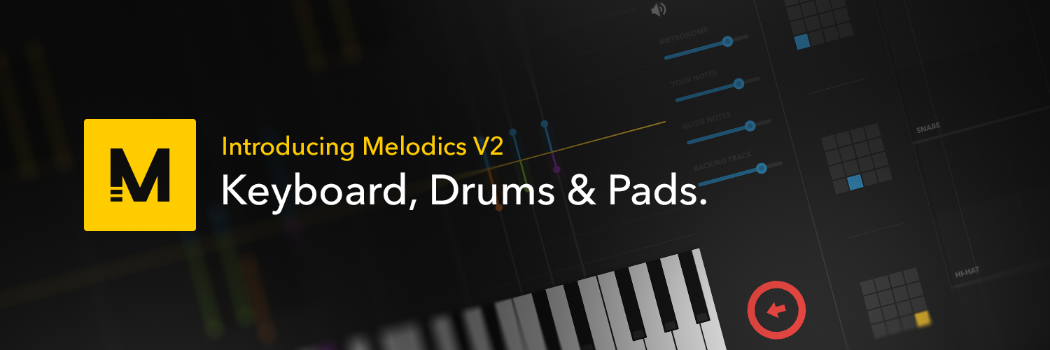 Learn to play the keyboard, drums and pads with Melodics.