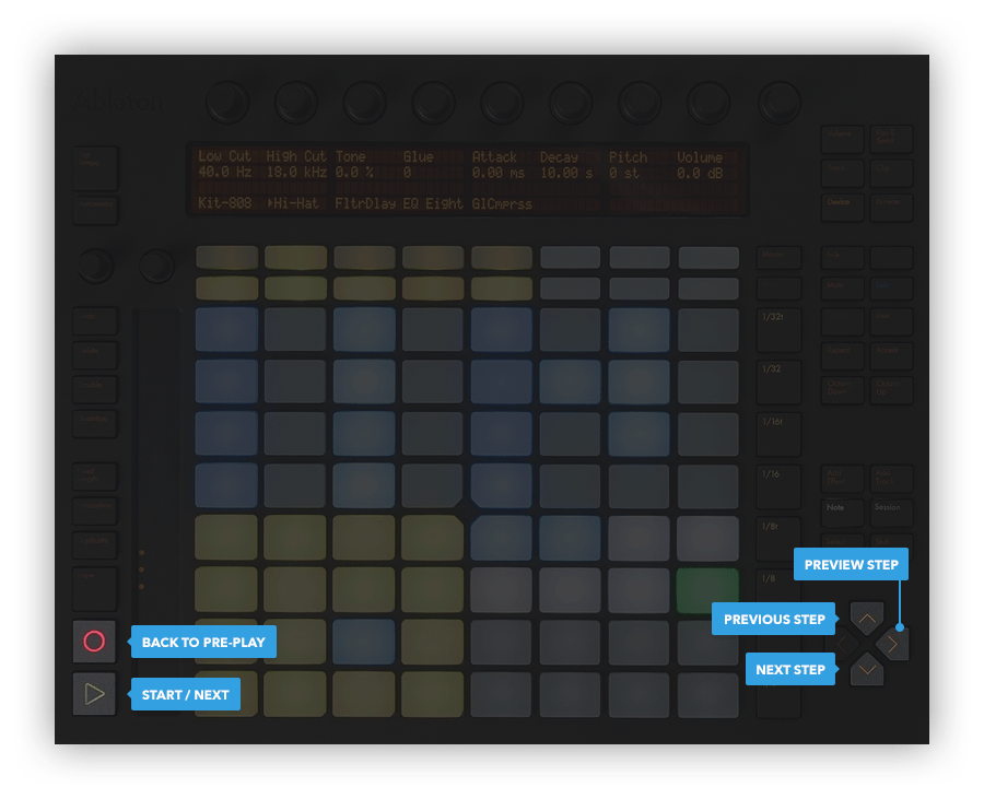 Ableton Push hardware controls