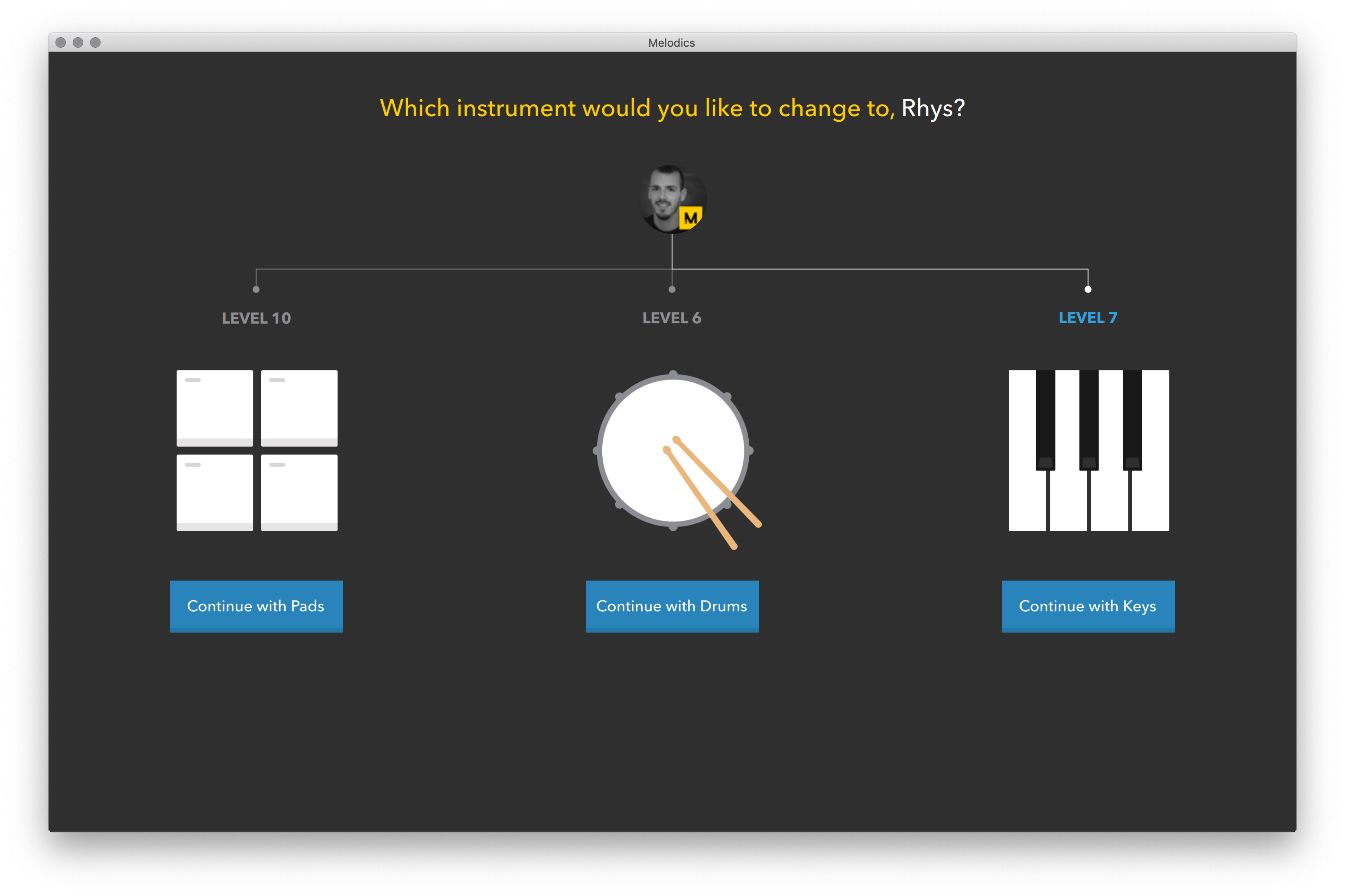 Select your instrument